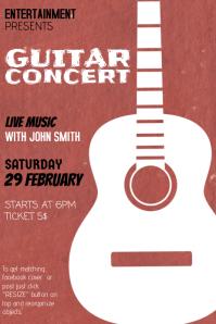 Indie Rock Guitar Concert Flyer template