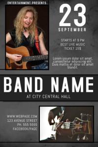 indie rock guitar country band concert singer landscape