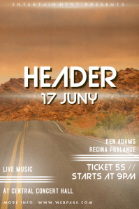 Indie Rock music Band concert Flyer template