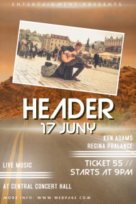 Indie Rock music Band concert Flyer Template with Photo