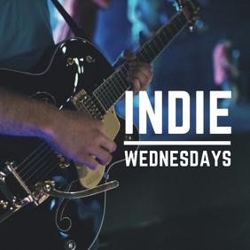Indie Wednesdays. Publicación de Instagram template