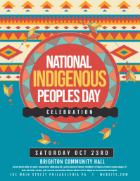 Indigenous day Flyer (US Letter) template