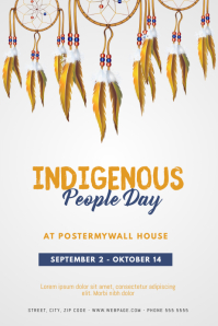 indigenous people day flyer template