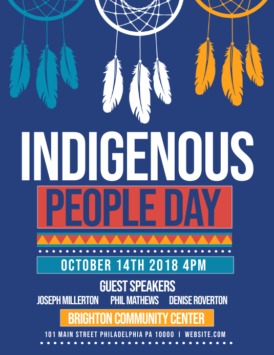 Indigenous people Flyer (Letter pang-US) template