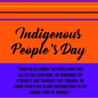 Indigenous peoples day Message Instagram template