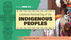 Indigenous Peoples Day Event Facebook Cover V