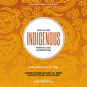 indigenous peoples day event template
