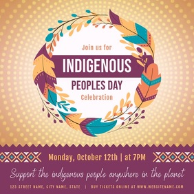 Indigenous Peoples Day Festival Square Video template