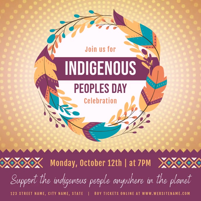 Indigenous Peoples Day Festival Square Video Persegi (1:1) template