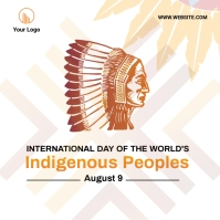 Indigenous Peoples Day social media post Square (1:1) template