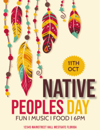 Indigenous Peoples Day Template Flyer (US Letter)