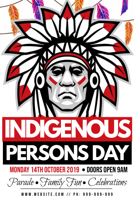 Indigenous Persons Day Poster Póster template