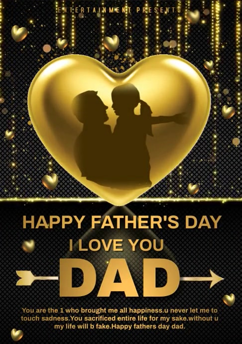 I LOVE YOU DAD A4 template