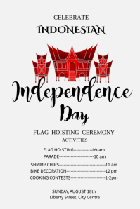 Indonesia Independence Day Poster Template