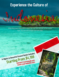 Indonesia Tour Travel Flyer Template