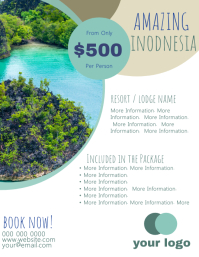 Indonesia Travel Flyer Template