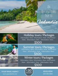 Indonesia Travel Poster Flyer Template