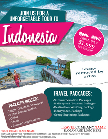 Indonesia Travel Tour Flyer Template