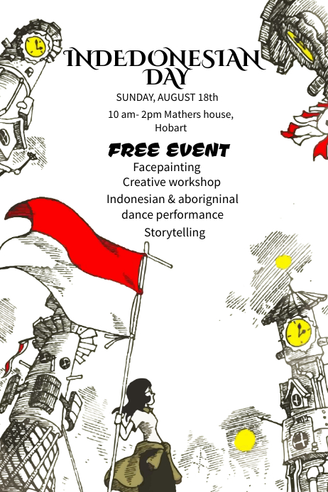Indonesian Day Event Poster Template