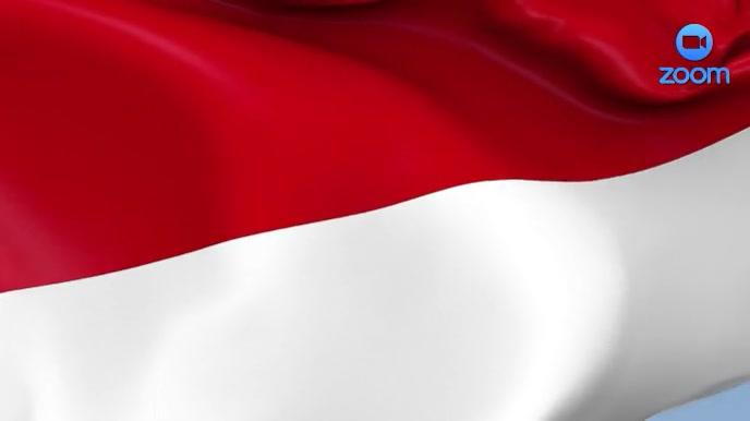 Indonesian Flag Zoom Video Conference Backgro Presentazione (16:9) template