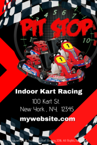 Indoor Go Kart Raving Template