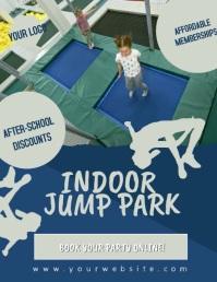 Indoor Jump Park Bounce Indoor Video Flyer Pamflet (VSA Brief) template