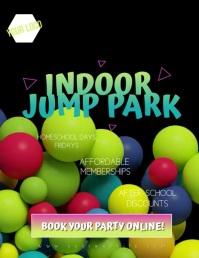 Indoor Jump Park Bounce Video Flyer Рекламная листовка (US Letter) template