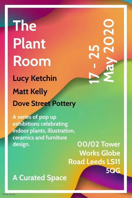 Indoor Plants Online Exhibition Template Poster