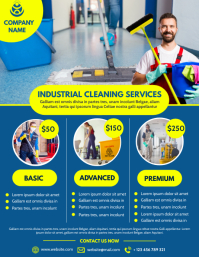 Industrial cleaning services flyer template d