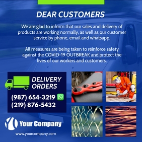 Industrial products company delivery ad