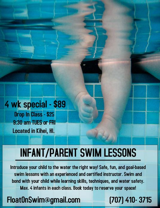 Infant/Parent Swim Lesson Flyer