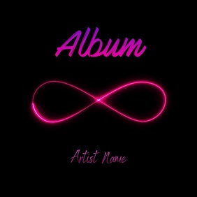 Infinity neon album cover art video