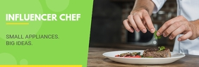 Influencer Chef Cook Linkedin Banner LinkedIn-banner template