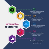 info graphic elements Instagram Post template