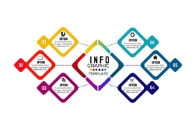 Infographic Design Banner 4' × 6' template