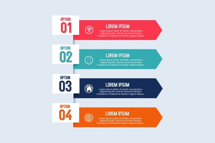 Infographic Design Plakkaat template