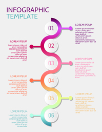 Infographic Template Pamflet (Letter AS)