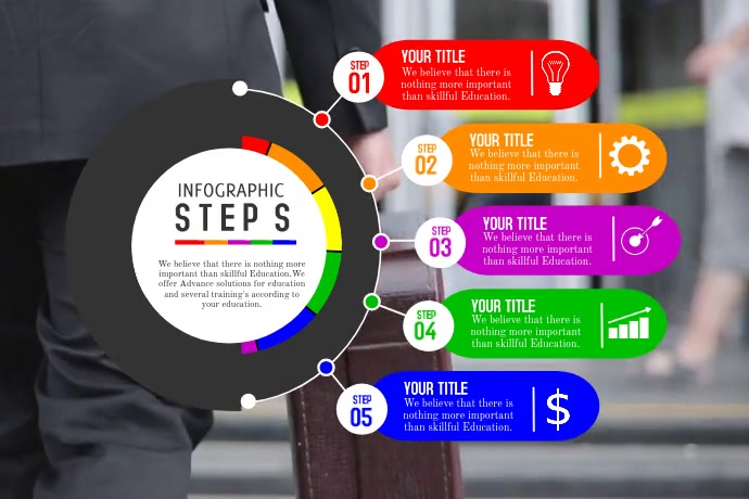 infographics Plakat template