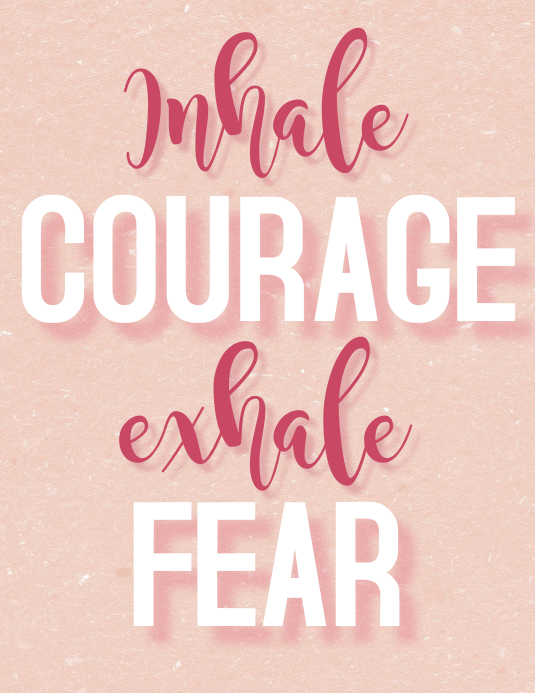 Inhale courage exhale fear Pamflet (Letter AS) template