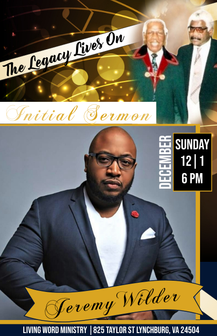Initial sermon flyer