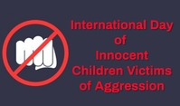 Innocent Children Victims of Aggression Tag template