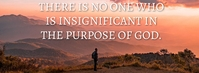 INSIGNIFICANT AND PURPOSE QUOTE TEMPLATE Foto Sampul Facebook