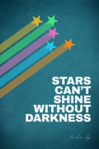 Inspiration quote stars design poster template