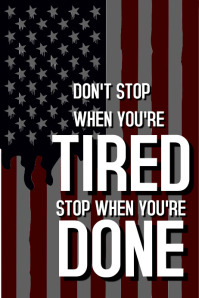 Inspirational and motivational poster us flag