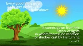 Inspirational Bible Quote for Kids Template Vídeo de portada de Facebook (16:9)