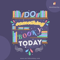 Inspirational book day quote Instagram-opslag template