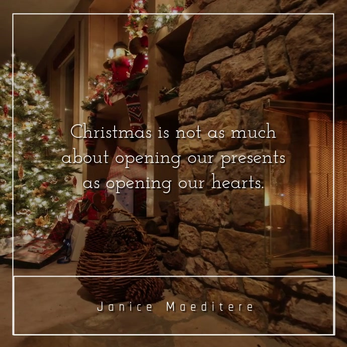 Inspirational Christmas Quote Video