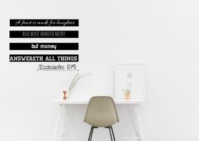 Inspirational - ecclesiates 10:19 Postal template