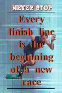inspirational/encouragement/motivational/race Affiche template