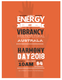 Inspirational Harmony Day Flyer Template